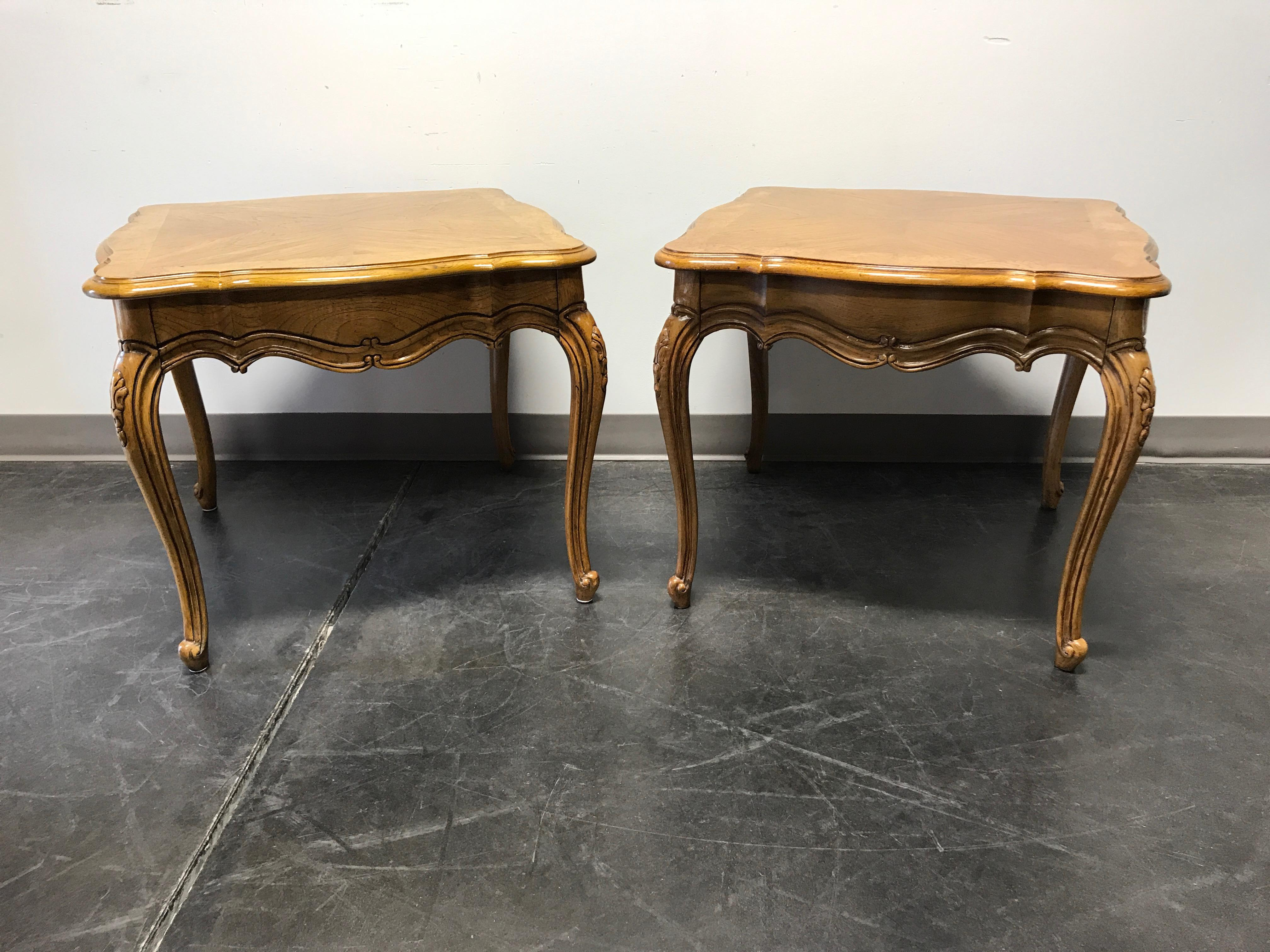 Attractive Thomasville French Court Burl Oak End Tables   A Pair   Image 9 Of 11