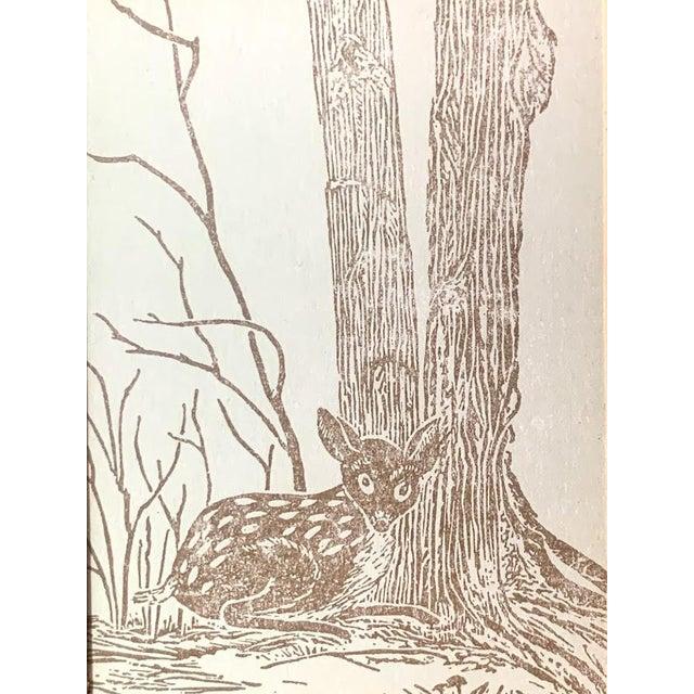 Mid-Century Modern Gwen Frostic Deer Block Print For Sale - Image 3 of 7