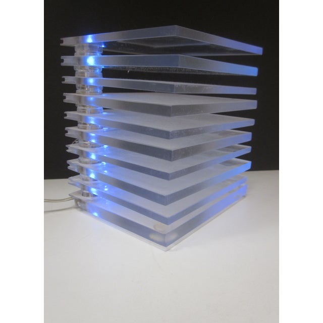 Lucite Plastic Stacking Mood Lamp Light - Image 3 of 9