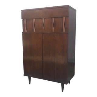 Tall Mid-Century Bureau or Dresser by American of Martinsville For Sale