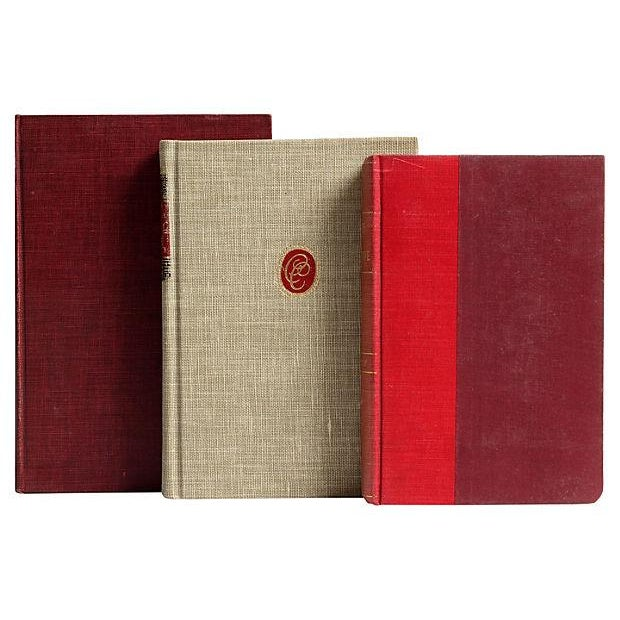 Red & Flax Midcentury Classic Books - Set of 16 - Image 4 of 4