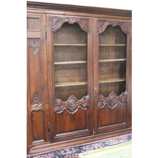 19th Century French Louis XV Bibliothèque Style Walnut Bookcase With Chiken Wire Doors Preview
