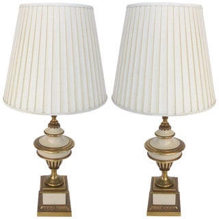Stiffel Brass Table Lamps - a Pair For Sale