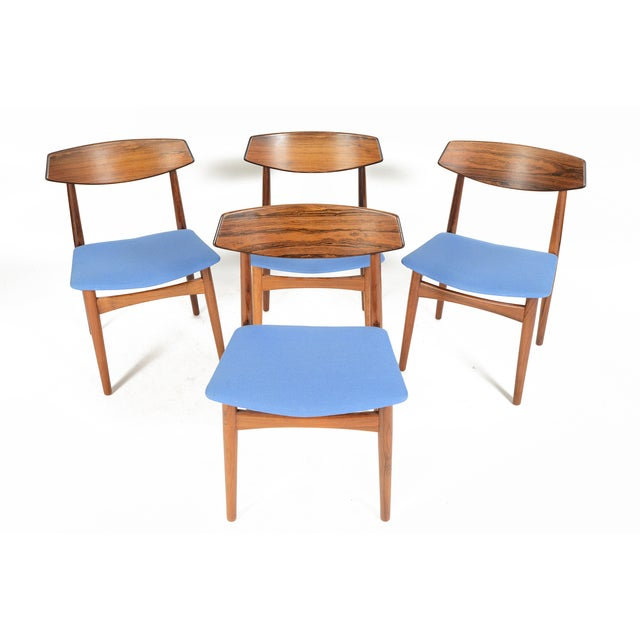 Danish Modern Rosewood Dining Chairs - Set of 4 - Image 2 of 11