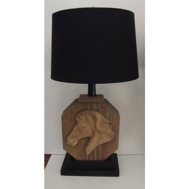 Heifetz limed oak carved horse table lamps a pair chairish art deco heifetz limed oak carved horse table lamps a pair for sale image aloadofball Gallery