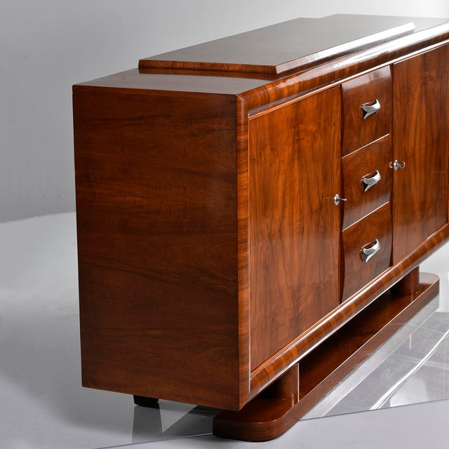 French Art Deco Walnut Sideboard For Sale In Detroit - Image 6 of 13