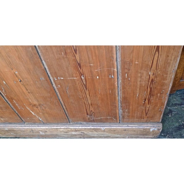19th Century English Stained Pine Church Pew For Sale In Los Angeles - Image 6 of 12