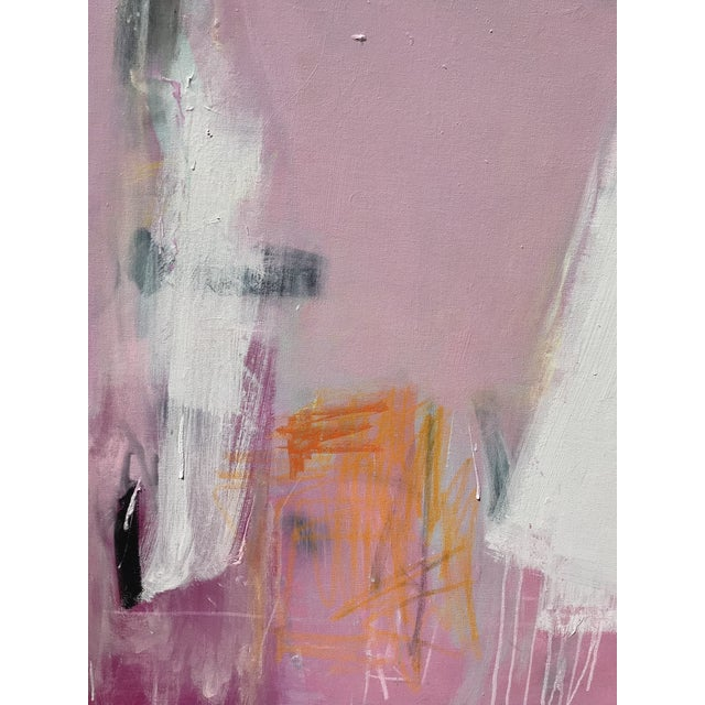 """Sarah Trundle """"Razzle Dazzle"""" Sarah Trundle Contemporary Abstract Painting For Sale - Image 4 of 5"""