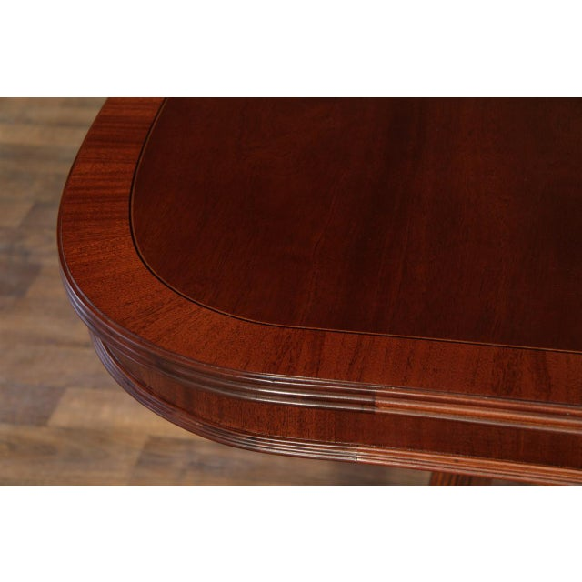 Formal Double Pedestal Mahogany Dining Table - Image 5 of 7