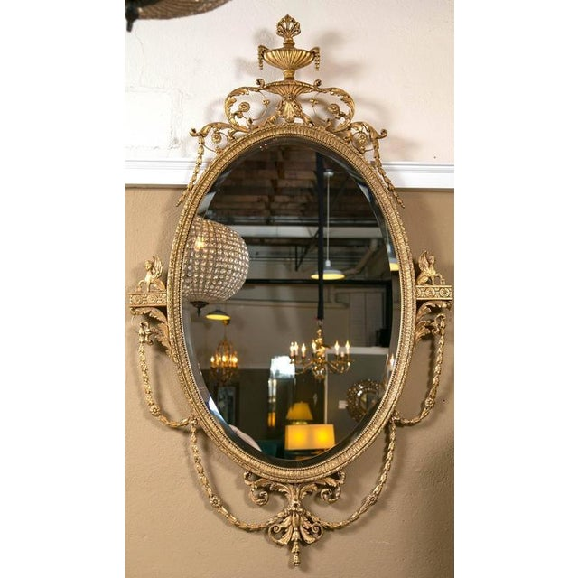 Giltwood Adams Style Friedman Mirrors - Pair For Sale In New York - Image 6 of 6