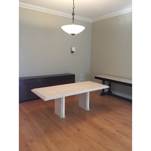 Solid Travertine Dining Table - Perfect and Incredible - Image 7 of 11