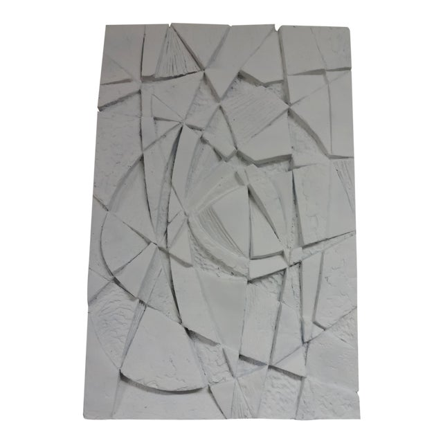 Mid-Century 3D Geometric Wall Hanging Sculpture For Sale