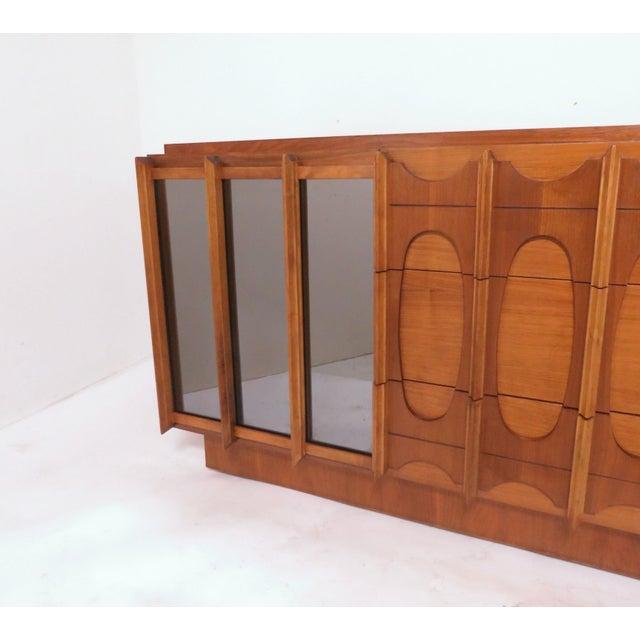 1960s Brutalist Mid Century 9 Drawer Credenza / Dresser by Tabago For Sale - Image 5 of 10