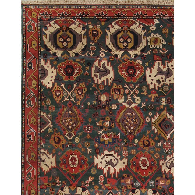 "Pasargad Kazak Collection Red Rug - 8'11"" X 11'7"" - Image 2 of 3"