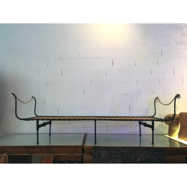 19th Century Antique French Campaign Daybed For Sale - Image 11 of 11