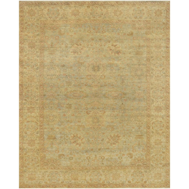 Brand new authentic hand-knotted rug from Pakistan featuring masterful color combinations and an amazing texture. Made of...