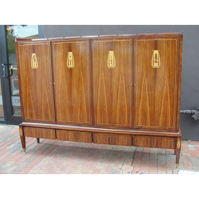 An Extraordinary Italian Cabinet in Rosewood & Exotic Inlay - Image 5 of 9