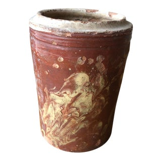 Antique Marbleized Pugliese Canister For Sale