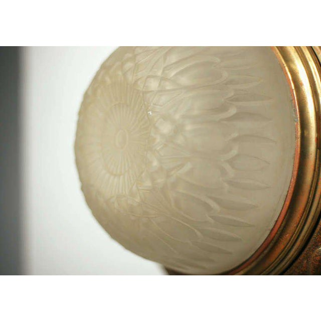 Solid Bronze Dome Ceiling or Wall Light Fixture - Image 4 of 4