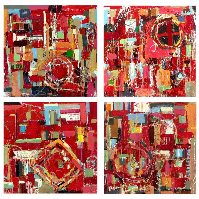 """William P. Montgomery Abstract Mixed Media Painting """"Rocket Science #1"""" Offered for sale is """"Rocket Science #1"""" painted..."""