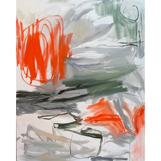 """""""Krakatoa 2"""" by Trixie Pitts Large Abstract Expressionist Oil Painting For Sale"""