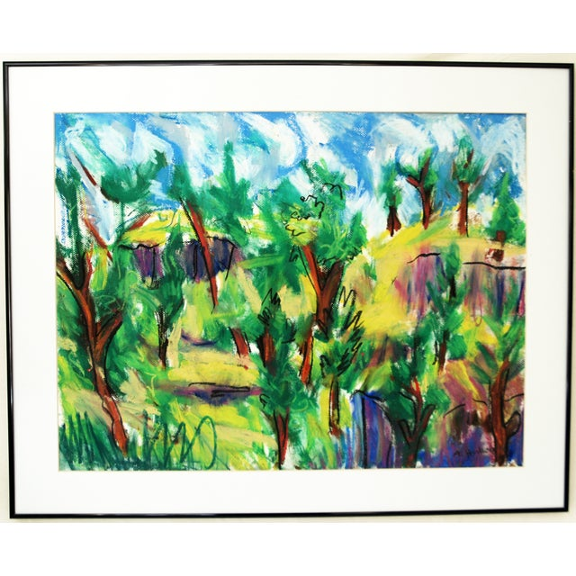 'Green Trees' Original Acrylic Abstract Painting - Image 1 of 4