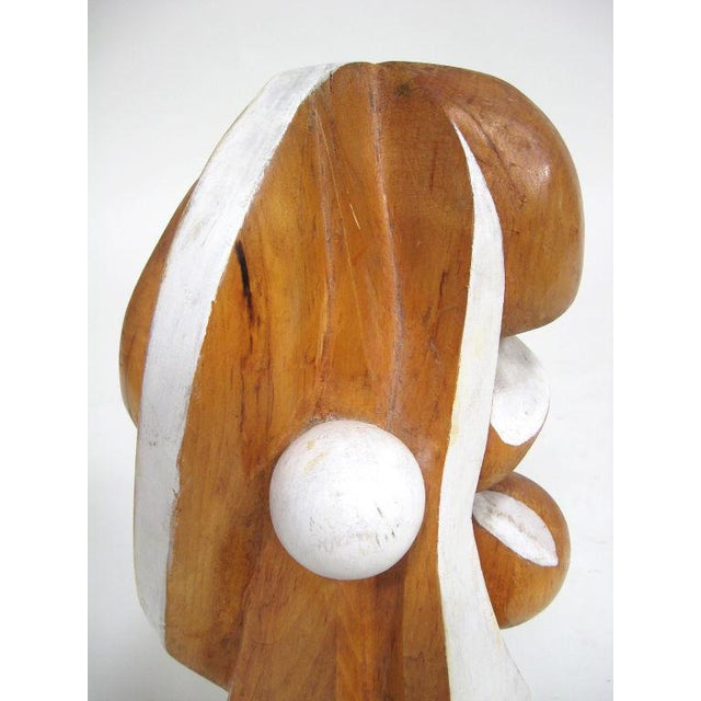 White Abstract wood sculpture by Arthur Rossfield For Sale - Image 8 of 11