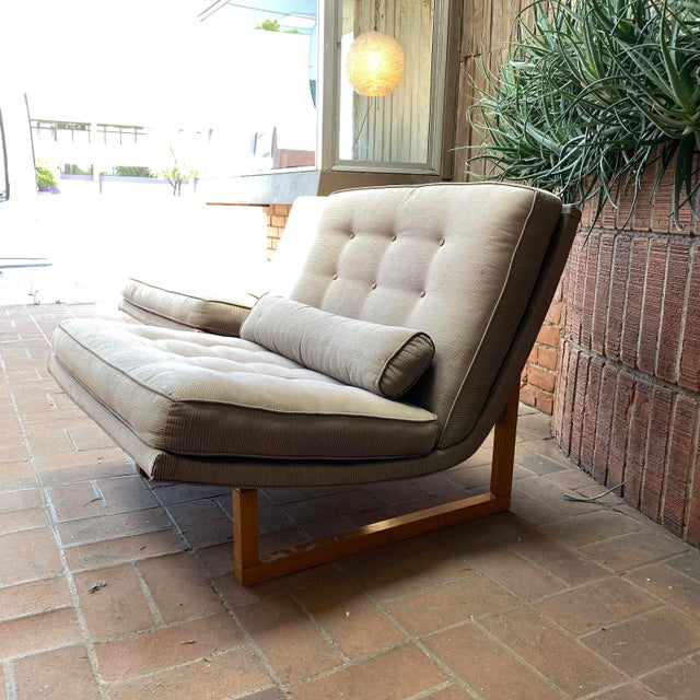 Mid-Century Milo Baughman Style Lounge Chairs - a Pair For Sale - Image 9 of 10