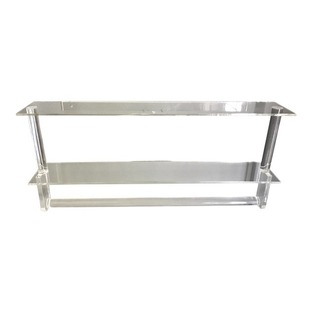 Vintage Lucite Shelves with Towel Bar - Image 1 of 4