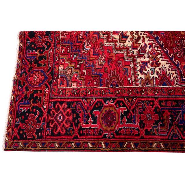 "Vintage Persian Heriz Rug, 10'2"" X 12'10"" For Sale In New York - Image 6 of 12"
