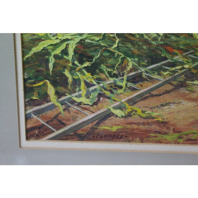 Mid 20th Century Caddell Farm Silo Gouche Scene Painting For Sale - Image 5 of 8