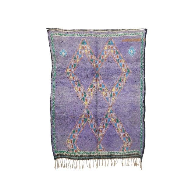 "Boujad Vintage Moroccan Rug, 4'11"" X 6'2"" Feet For Sale"