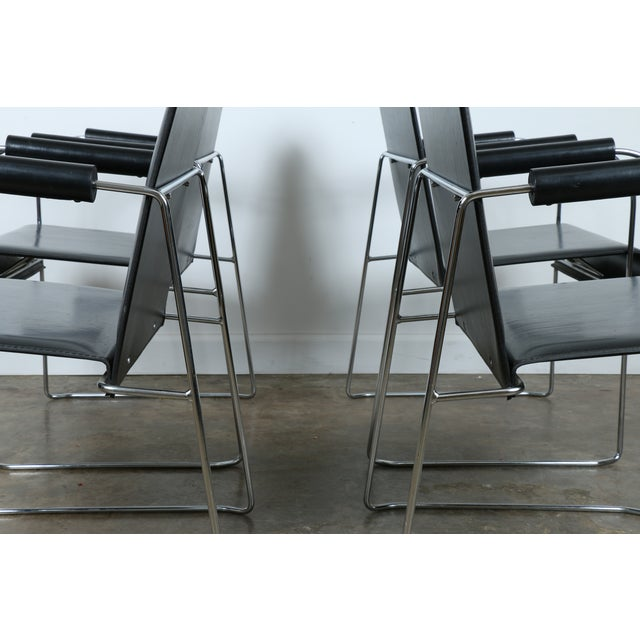 Arrben Italy Arm Chairs - Set of 4 - Image 4 of 11