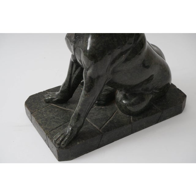 """19th Century Italian Grand Tour """"Molossian Hound"""" Marble Sculpture For Sale - Image 9 of 12"""