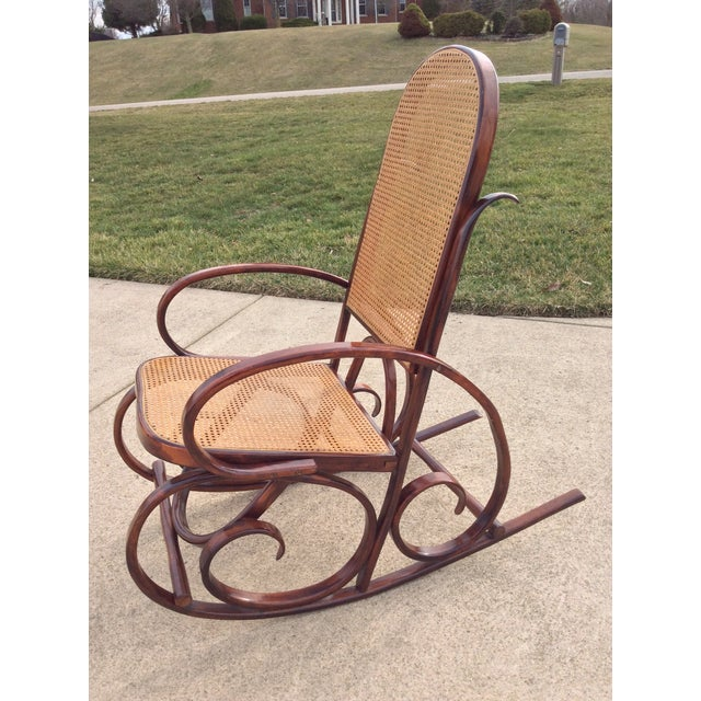 Mid Century Luigi Crassevig Thonet Style Bentwood Rocker For Sale - Image 12 of 12