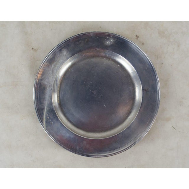 Italian Pewter Scribed Center Platter by Match Italy For Sale - Image 10 of 10