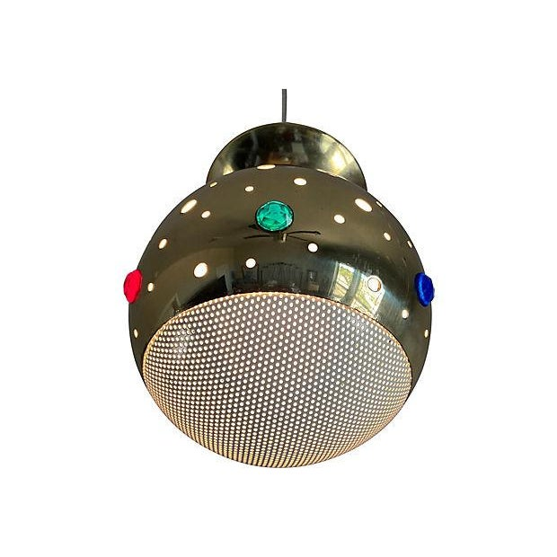 1960s 1960s Modern Perforated Flush Light For Sale - Image 5 of 11