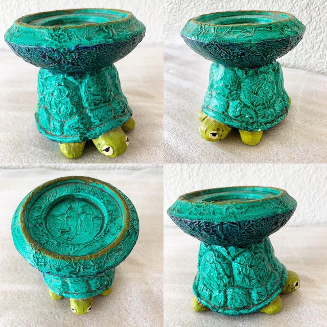 Midcentury Turtle Ceramic Candleholder For Sale - Image 10 of 11