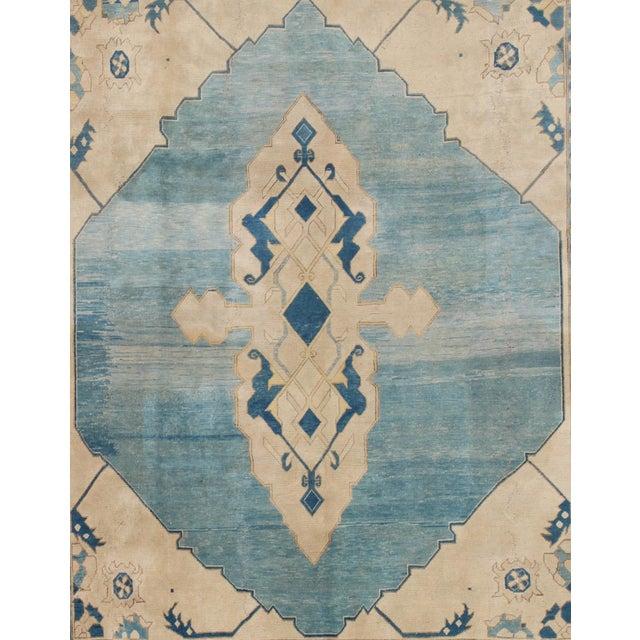Islamic Vintage Mid-Century Turkish Oushak Rug - 10′ × 12′ For Sale - Image 3 of 9