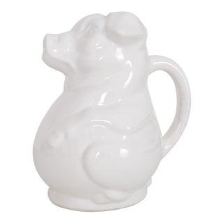Kitchen Pitcher White Ceramic Pig For Sale