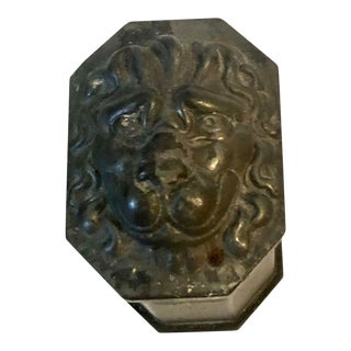 Antique French Lion Head Box For Sale