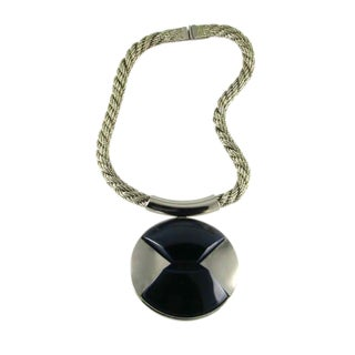 1970s Lanvin Modernist Necklace For Sale