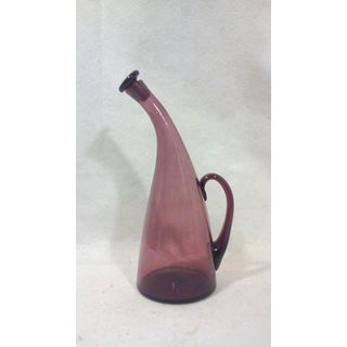 Blenko Purple Glass Bent Decanter Bottle Preview