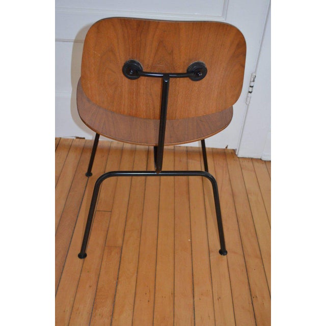 Metal Dozens of Herman Miller Eames 1950s Walnut Dining Room Chair With New Hm Frames For Sale - Image 7 of 11