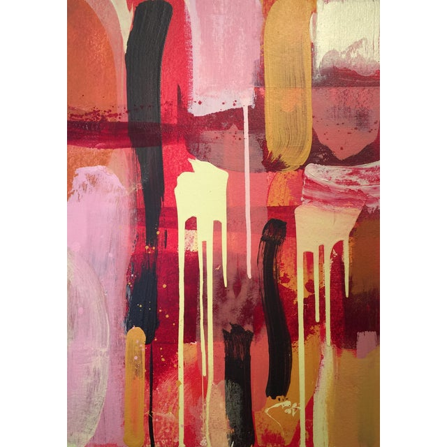 "Denmark Contemporary Red Abstract ""La Flora Fuega 1"" For Sale"