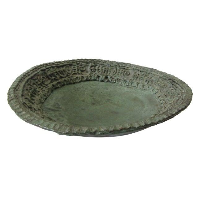 Large Ceramic Green Bowl - Image 1 of 11