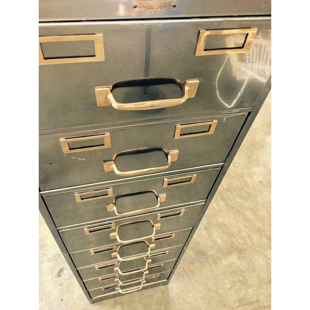 Vintage Polished Modern Metal Steelcase 8-Drawer File Cabinet - Image 5 of 8