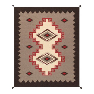 """Pasargad Home Navajo-Style Wool Area Rug- 8' 0"""" X 9'11"""" For Sale"""