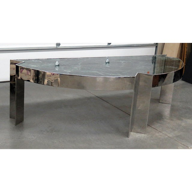Marble Top Chrome Desk Attr. Pace Collection For Sale - Image 11 of 11