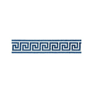 Scalamandre Greek Key Velvet Tape, Indigo For Sale